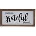 Thankful Grateful Blessed Wood Decor
