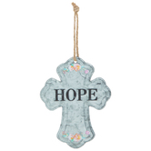 Hope Galvanized Metal Cross
