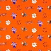 Clemson Allover Collegiate Cotton Fabric