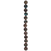 Brown Round Honeycomb Dyed Agate Bead Strand