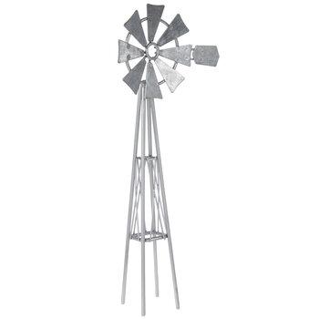 Miniature Galvanized Metal Windmill