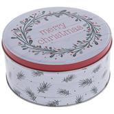 Christmas Wreath Round Tin Box