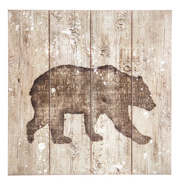 Bear Pallet Wood Wall Decor