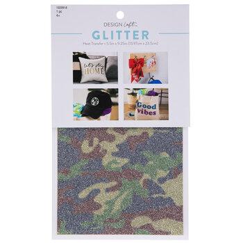 Camo Glitter Iron-On Transfer