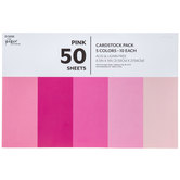 "Pink Cardstock Paper Pack - 8 1/2"" x 11"""