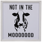 Not In The Mood Cow Wood Wall Decor