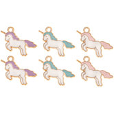 Mini Unicorn Charm Embellishments