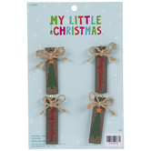 Mini Merry Christmas Tag & Bow Ornaments