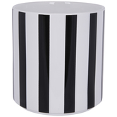 Black & White Striped Flower Pot