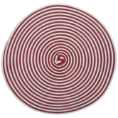 Red & White Striped Round Placemat