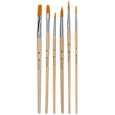 Gold Taklon Teacher's Paint Brushes - 30 Piece Set