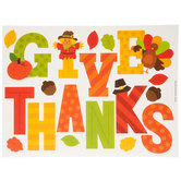 Give Thanks Window Clings