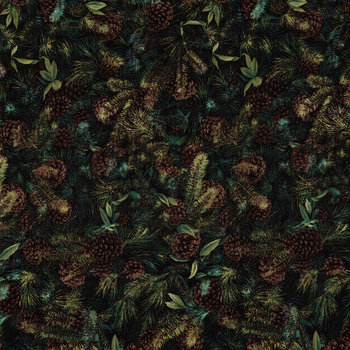 Packed Pines Cotton Fabric