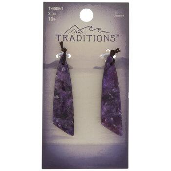 Purple Dyed Lepidolite Stone Pendants