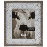 Whitewash Embossed Metal Wall Frame