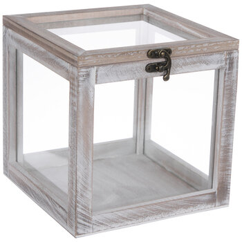 Whitewash Wood Jewelry Box