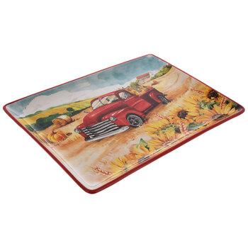 Red Truck & Sunflowers Platter