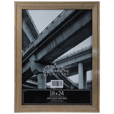 """Antique Brown Wood Wall Frame - 18"""" x 24"""""""