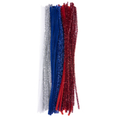 Red, White & Blue Chenille Stems
