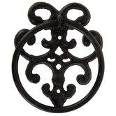 Brown Metal Scroll Towel Ring