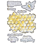 Honeycomb Clear Stamps