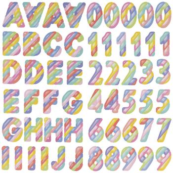 Pastel Marshmallow Alphabet Stickers