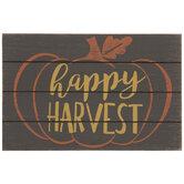 Happy Harvest Pumpkin Wood Wall Decor