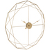 Gold Geometric Wire Metal Wall Clock
