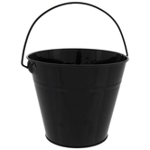 Black Metal Bucket - Medium