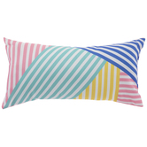 Multi-Color Striped Rectangles Pillow