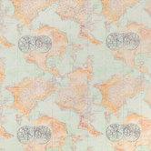 Explorer Map Cotton Calico Fabric