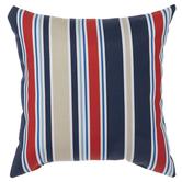 Red, White & Tan Striped Pillow