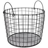 Black Round Metal Basket