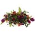Purple, Orange & Fuchsia Tulip Arrangement