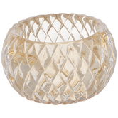 Diamond Round Glass Candle Holder