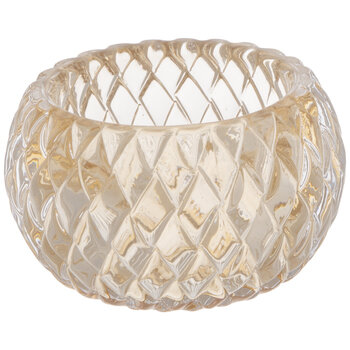 Diamond Round Glass Candle Holder