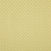 Green & Cream Polka Dot Cotton Calico Fabric