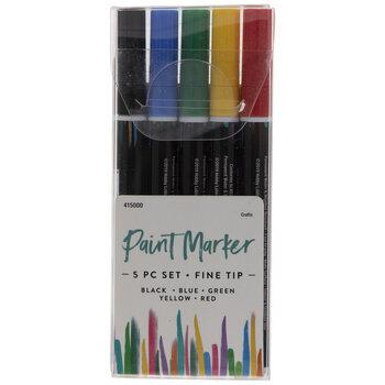 Fine Tip Paint Markers - 5 Piece Set