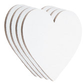 Heart Magnetic Blank Canvas Set - 3""