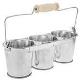 Galvanized Metal Round Connected Buckets
