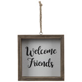 Welcome Friends Wood Ornament