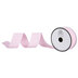 Light Pink & White Stitched Grosgrain Ribbon - 1 1/2