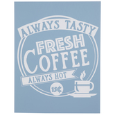 Fresh Coffee Adhesive Silkscreen Stencil