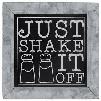 Just Shake It Off Metal Decor