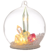 Pink Light Up Crystal Dome Ornament