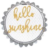 Hello Sunshine Flower Metal Wall Decor