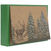 Reindeer & Forest Kraft Christmas Cards