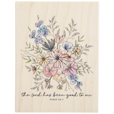 Psalm 116:7 Floral Rubber Stamp