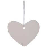 White Heart Ornaments