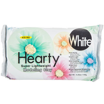 White Hearty Super Lightweight Modeling Clay